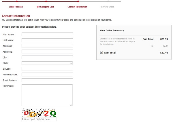 FAQ Image 6 - Creating Your Online Order Screenshot Image