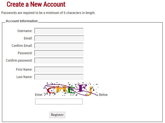FAQ Image 3 - Account Registration Form Screenshot Image