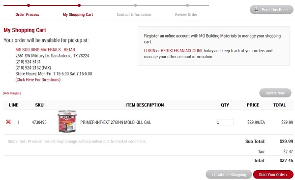 FAQ Image 5 - Shopping Cart Screenshot Image