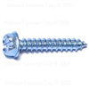 1/4 X 1-1/2 Slotted Hex Washer Sheet Metal Screws Zinc 0