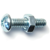 1/4-20 X 1       Combo Round Machine Screws w/ Nuts Zinc 5/pk 0