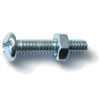 1/4-20 X 1-1/4 Combo Round Machine Screws w/ Nuts Zinc 4/pk 0