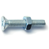 1/4-20 X 1-1/2 Phillips Flat Machine Screws w/ Nuts Zinc 4/pk 0