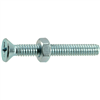 1/4-20 X 2       Phillips Flat Machine Screws w/ Nuts Zinc 4/pk 0