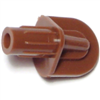 1/4 Shelf Support Brown Fluted Plastic 0