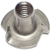 1/4 X 9/16      T-Nut Long Pronged Stainless Steel 1/pk 0