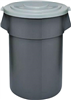 TRASH CAN*S*44gal PLAS HUSKEE 4444GY
