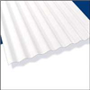 CORRUGATED ROOFING*12' PALRUF WHITE PVC