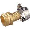 "HOSE END-BRASS MALE 3/4"" 58141N W/CLAMP"