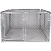 CHAIN LINK DOG KENNEL 6'x6'x4'