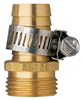 "HOSE END-BRASS MALE 5/8"" 58113N W/CLAMP"