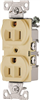 Receptacle Duplex Ivory 15Amp Grounded Commercial BR15V 0