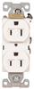 Receptacle Duplex White 15Amp Grounded Commercial BR15W 0