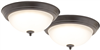 "Light Fixture Ceiling LED Flush Mount Bronze 13"" 3000k 2Pk ZD13-BR-C 0"