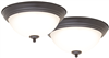 "Light Fixture Ceiling LED Flush Mount Bronze 11"" 3000k 2Pk 4200-LED- BR 0"