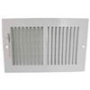 "REGISTER-SIDEWALL 10""x6"" WHITE SW02-10x6"