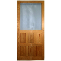 SCREEN DOOR-WOOD RAISED-PANEL 2 8x6 8