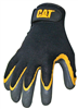 GLOVES-BLACK LATEX COATED PALM MEDIUM