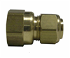 "BRASS COMPR FEMALE-3/8""x3/8"" LFA-117"