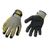 GLOVES-BLACK LATEX COATED PALM LARGE