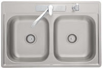 SINK-KIT STAINLESS W/FAUCET AND STRAIN