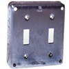 "SQUARE BOX COVER-803C 4""SQ DOUBLE SWITCH"