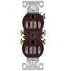 RECEPTACLE-DUPLEX BROWN EACH 270B