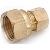 "BRASS COMPR FEMALE-1/4""x3/8"" LFA-18"