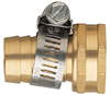 "HOSE END-BRASS FEMALE 5/8""58114N W/CLAMP"