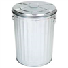 TRASH CAN-20gal GALV      W/LID*