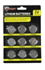 BATTERY-9PK LITHIUM BUTTON CELL CR2032