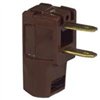 CORD END-MALE 15a/125v 2w ANG 638BLK