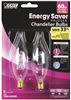 BULB-CHANDELIER HALO 40W  FLAME CAND 2PK