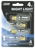 BULB-NIGHTLIGHT INCAN 4W C7 CLR CAND 4PK
