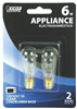 BULB-APPLIANCE  INCAN 6W  S6  CLEAR CAND