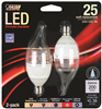 BULB-CHANDELIER LED 25W FLAME CAND 2PK