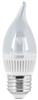 BULB-CHANDELIER LED 3W   FLAME MED  2PK