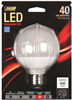 BULB-GLOBE LED G25 40W 300K MED  BASE