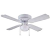"Ceiling Fan Boston Harbour 42"" White 1Lt Hugger 	42-742T-SH-EN-WH 0"