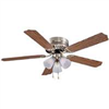 "Ceiling Fan Boston Harbour 52"" Antique Brass 3Lt Hugger CF-78049L 0"