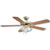 "Ceiling Fan Boston Harbour 52"" Polished Brass D/Mnt 3Lt CF-78043 0"