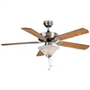 "Ceiling Fan Boston Harbour 52"" Brush Nickel 1Lt W/Light CF-B552+1F242BN 0"