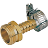 "Hose End Brass Male 1/2"" w/ Clamp Gb934M 0"