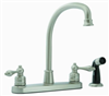 Faucet Banner Kitchen 2 Handle Brushed Nickel Arch 766-Sb 0