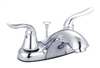 Faucet-Banner Lavatory 2 Handle Brushed Nickel W/Pop Up T216-B 0