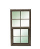 Window Bronze 2 0X5 0 100 4/4 Single Hung Low E No Screen 0