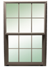 Window Bronze 3 0X3 0 100 6/6 Single Hung Low E No Screen 0