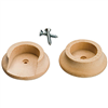 Pole Socket Wood w/ Screw 2/Pkg 408Dp 0