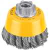 Grinding Cup Brush 3X5/8-11 Knotted Wire Dw4910 0