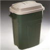 Trash Can 30 Gal Plastic Rectangular Green 2979Ev 0